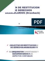 Diapositiva Beneficio Del Drawback o Restitucion de Derechos Arancelarios