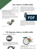 Clase 7 Engranes Conicos y Tornillos Sinfin