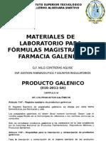 001. Materiales de Laboratorio Para Fórmulas Magistrales y Farmacia Galenica