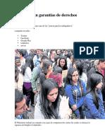 Colombia Sin Garantías de Derechos Sindicales