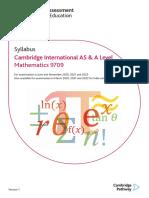 A Levels Maths 2020-2022 Syllabus