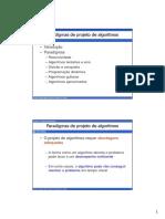 Aula 16 - Paradigmas de Projeto de Algoritmos
