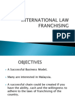 International Law-franchising (1)