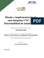 Piquer - Diseño e Implementación de Una Máquina Cnc Con Funcionalidad de Taladradora
