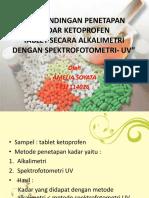 Perbandingan Penetapan Kadar Ketoprofen