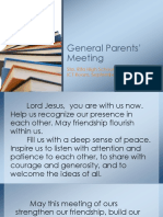 General Parents Meeting