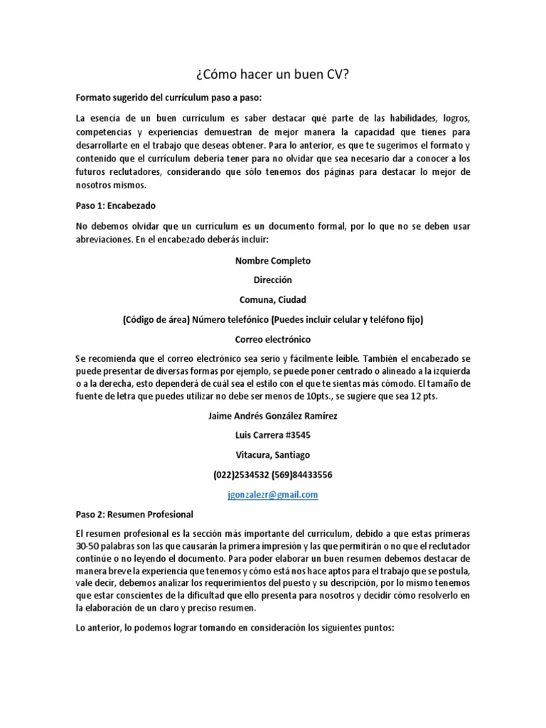 Hermosa Buen Tamaño De Fuente Del Curriculum Imágenes - Ejemplo De ...