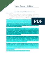 Funcionalismo, Daren y Lukács