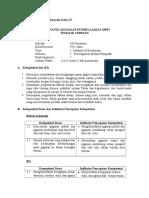 Contoh RPP Tematik Terpadu Kelas IV (Baru)