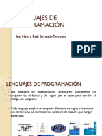 Semana 1 - Lenguajes de Programación