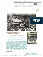 1. Ferrovias Para o Planalto _ 1968 - A Chegada Do Primeiro Trem a Brasilia