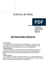 Criterios de Fallas DICERTACION