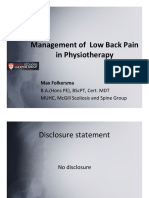 Canadian LBP Physiotherapy Guideline