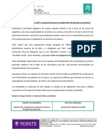 Circular Nº 1 Foro Distrital y Capacitación Para La Adquisición de Derechos Asociativos