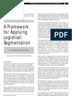 A a Framework for Applying Logistical Segmentation