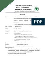 2.3.3 Ep 1 (Notulen) Bukti Evaluasi Terhadap Struktur Organisasi Puskesmas