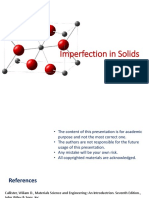 Imperfection in Solids