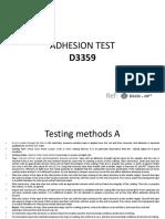 Adhesion Test