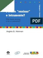 KLEIMAN - Preciso Ensinar o Letramento