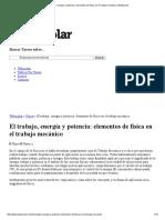 El Trabajo, Energía y Potencia_ Elementos de Física en El Trabajo Mecánico _ Webscolar