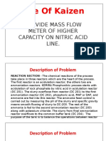 Presentation on Provided Massflow Meter on Nitric Acid Line
