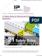 21 Safety Rules for Electrical Installation