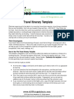 TEMPLATE TravelItinerary