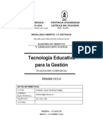 Tecno educativa (Trabajo a distancia)