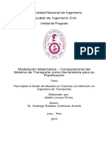 Modelación Matemática – Computacional del Sistema de Transporte