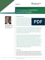 The Evolution of Quantitative Investment Strategies