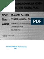 Sample NPWP perusahaan