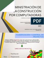Administración de la Construcción por Computadoras