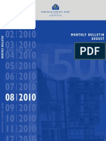 ECB Monthly BULLETIN -- August 2010