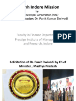 Dr. Punit K Dwivedi , Brand Ambassador, Swachh Indore Mission IQAC_NBA