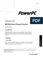 MPC860 Board Design Checklist