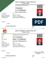 kartu peserta