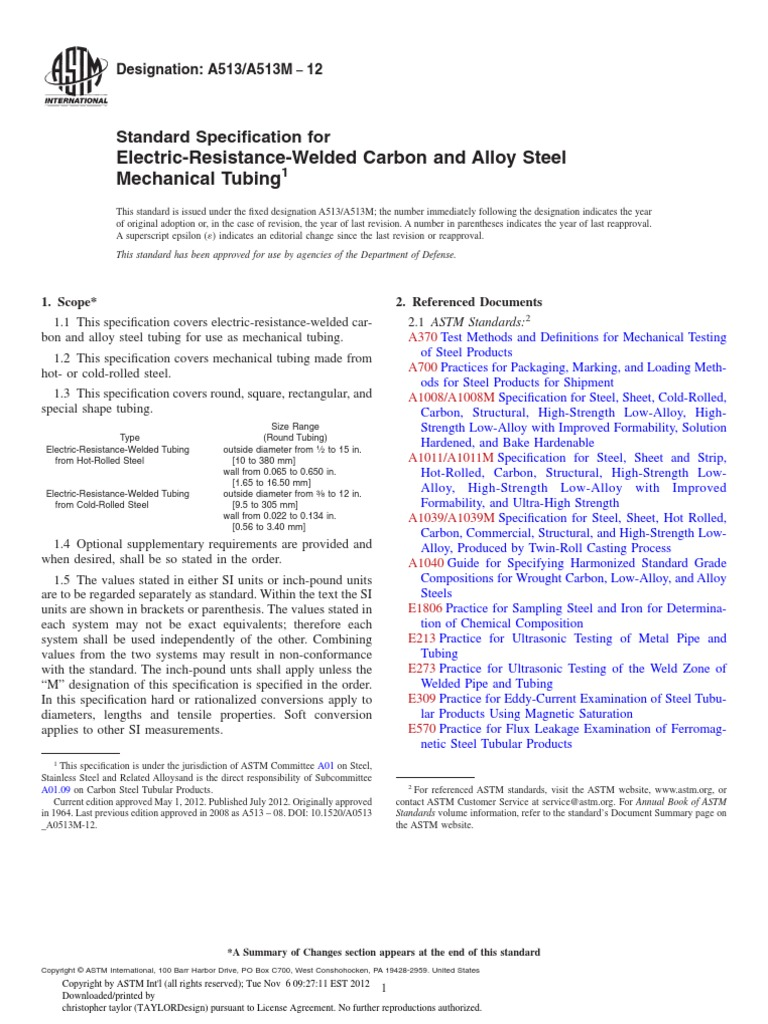 Astm a513pdf engineering tolerance rolling metalworking falaconquin