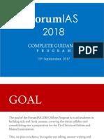 ForumIAS 2018 Plan