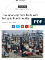 How Indonesia Sets Trade With Turkey to Run Smoothly