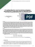 El Coaching Deportivo Como Herramienta Pedagógica Para Potenciar El Compromiso Motor en Educación Física