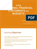 Slide2_Using Personal Financial Statements and Budgets