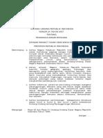UU No. 24 Th 2007 Ttg Penanggulangan Bencana