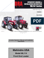 Mahindra ML114 Loader Manual
