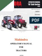 Mahindra Tractor 4510 Operator Manual