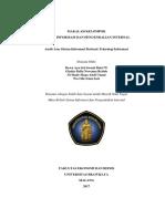 Audit Atas Sistem Informasi Berbasis Teknologi Informasi