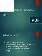 Legal Aspects Unit 1