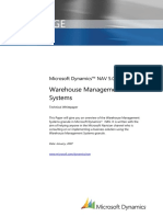 Dynamics NAV 5.0 White Paper Warehouse Management System