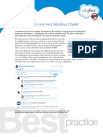 How salesforce.com uses Salesforce Chatter