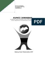 Kunci Jawaban Soal (Osk,Osp & Osn) Smp 2003-2016