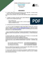 Regolamento Concorso GIULIO NERI 2012